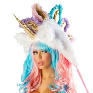 Josie Loves J Valentine Unicorn Hood Mint Conditio